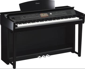 YAMAHA CLAVINOVA CVP705PE PIANO PIANOFORTE DIGITALE GRADED HAMMER NERO LUCIDO CON RITMI CVP-705 PE