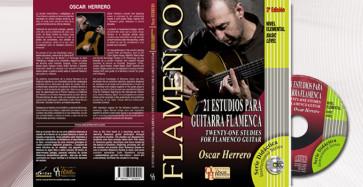FLAMENCO OSCAR HERRERO BASIC LEVEL LIBRO + CD 21 ESTUDIOS PARA GUITARRA FLAMENCA