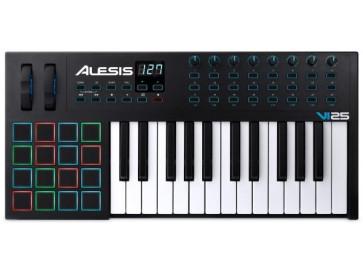 ALESIS VI25  TASTIERA MASTER KEYBOARD MIDI / USB 25 TASTI SEMIPESATI