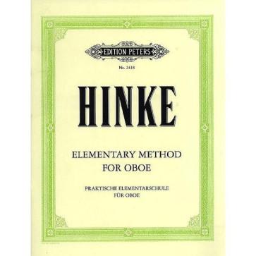 "HINKE ""ELEMENTARY METHOD FOR OBOE""  METODO PER LO STUDIO DELL'OBOE LIBRO DIDATTICO ED PETERS"