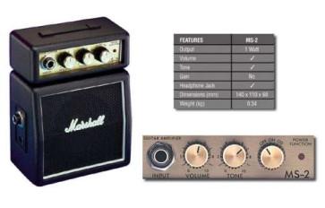 Marshall MS2 Mini Amplificatore a Batterie per chitarra DA 2 WATT