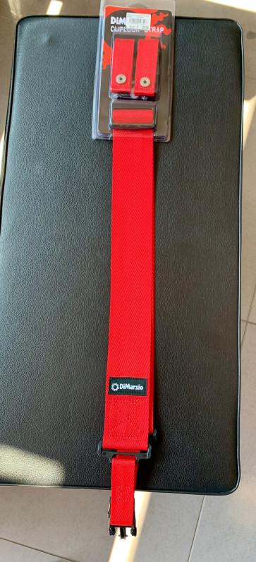 DIMARZIO DD2200 TRACOLLA PER CHITARRA O BASSO VARI COLORI CLIPLOCK STRAP CLIP NYLON DD-2200