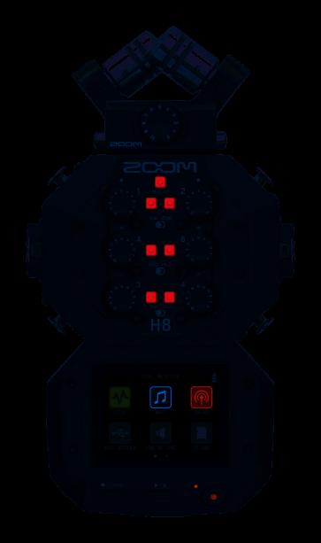 ZOOM H8 REGISTRATORE PALMARE 24-Bit/96kHz, 12 TRACCE, INTERFACCIA AUDIO USB