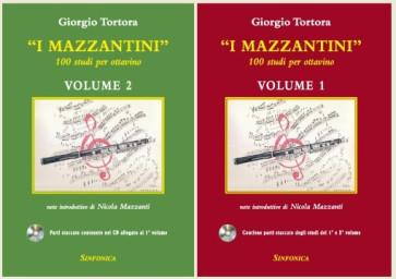 """GIORGIO TORTORA """"I MAZZANTINI"""" 100 STUDI PER OTTAVINO VOL 1 E  2 CON CD"""