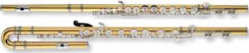 YAMAHA YFL-A421 FLAUTO TRAVERSO ALTO CONTRALTO IN SOL IN GOLD BRASS