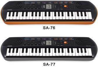 Casio SA76 SA77 TASTIERA TASTIERINA PIANOLA 44 TASTI PICCOLI IDEALE PER LA SCUOLA MEDIA SA-76 SA-77