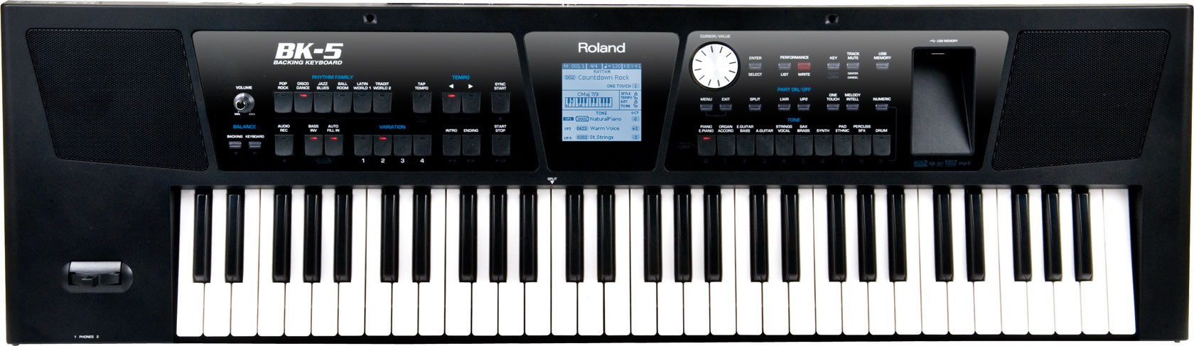 ROLAND BK5 TASTIERA ARRANGER CON PORTA USB BACKING KEYBOARD BK-5
