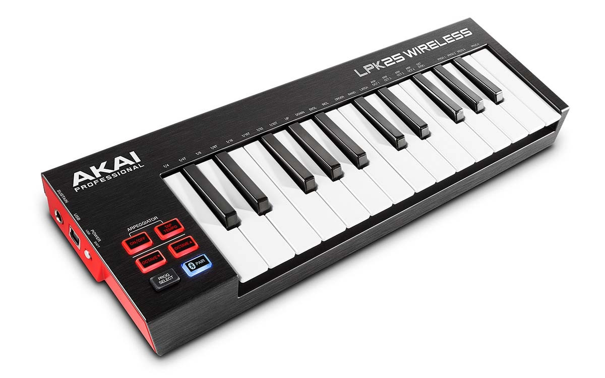 AKAI LPK25 WIRELESS KEYBOARD TASTIERA MIDI / USB 25 TASTI MINI BLUETOOTH