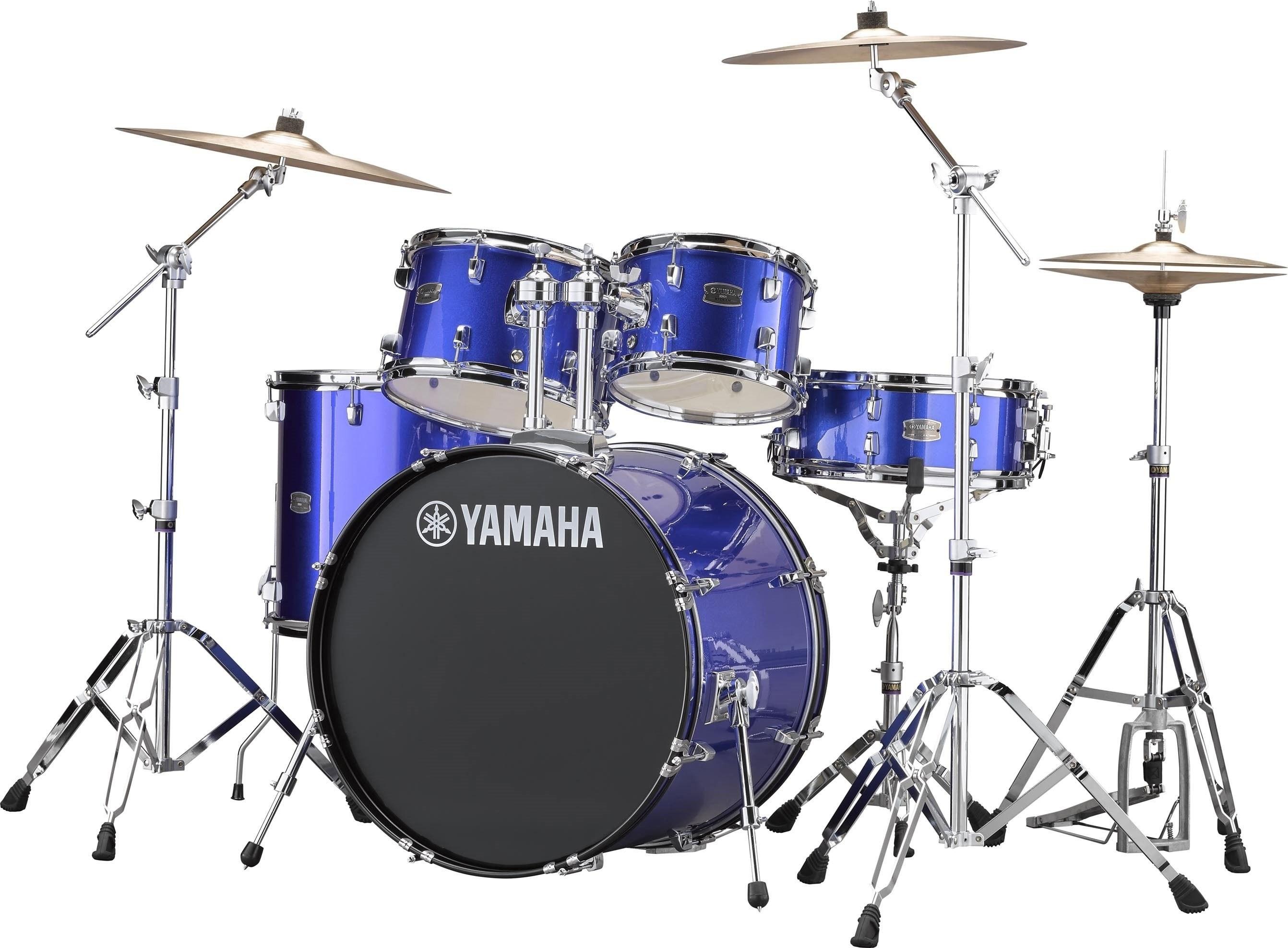 YAMAHA RYDEEN RDP2F5 SET BATTERIA ACUSTICA COLORE FINE BLUE COMPLETA DI PIATTI PAISTE RDP-2F5