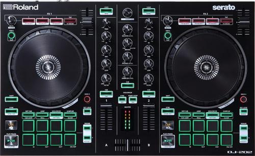 ROLAND DJ202 DJ CONTROLLER A DUE CANALI E QUATTRO DECK PER SERATO INTRO DJ-202