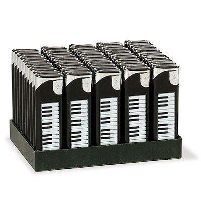 VIENNA WORLD E0021 GADGET DA REGALO ACCENDINO CON TASTIERA PIANOFORTE NERO