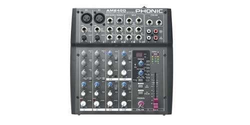 Phonic AM240D Mixer Passivo 4 Canali Con Effetti