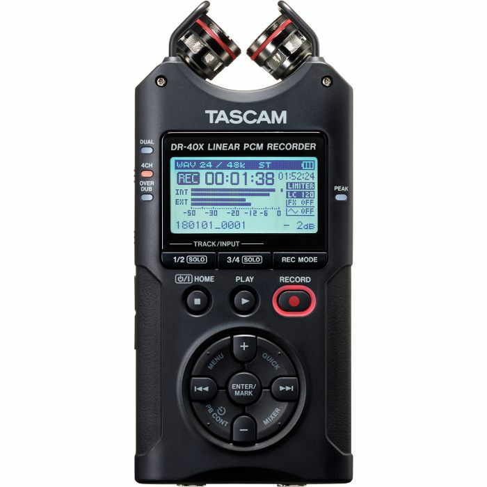TASCAM DR-40-X REGISTRATORE DIGITALE PALMARE A 4 CANALI CON INTARFACCIA AUDIO USB 2 IN / 2 OUT DR40X