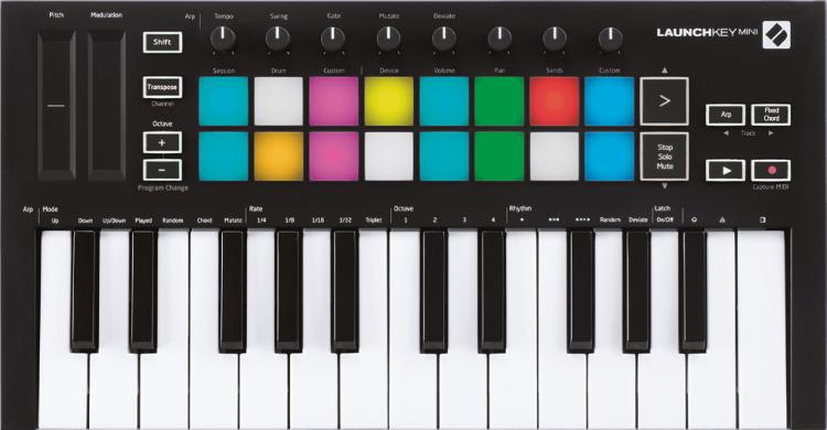 NOVATION LAUNCHKEY MINI MK3 MASTER KEYBOARD 25 TASTI TASTIERA CONTROLLER MIDI