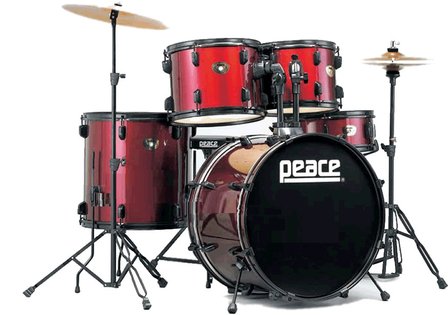 PEACE DEAMON DP-101 Batteria acustica rossa DP101 Demon