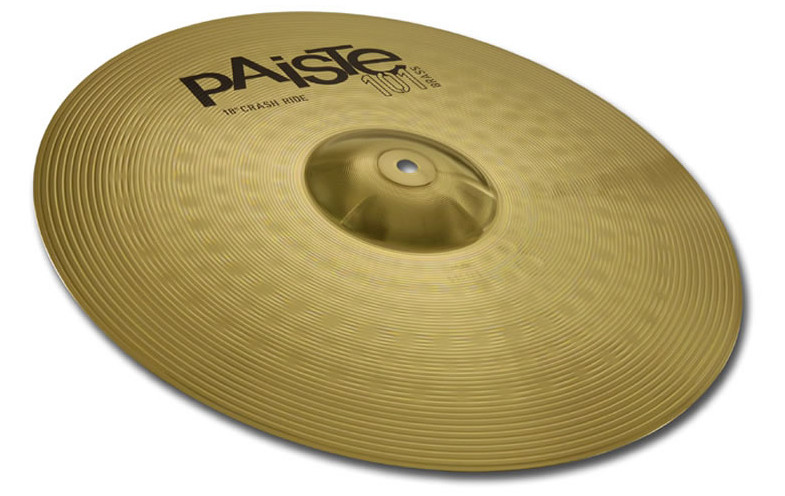 "PAISTE  101 CRASH / RIDE 18"" PIATTO PER BATTERIA"