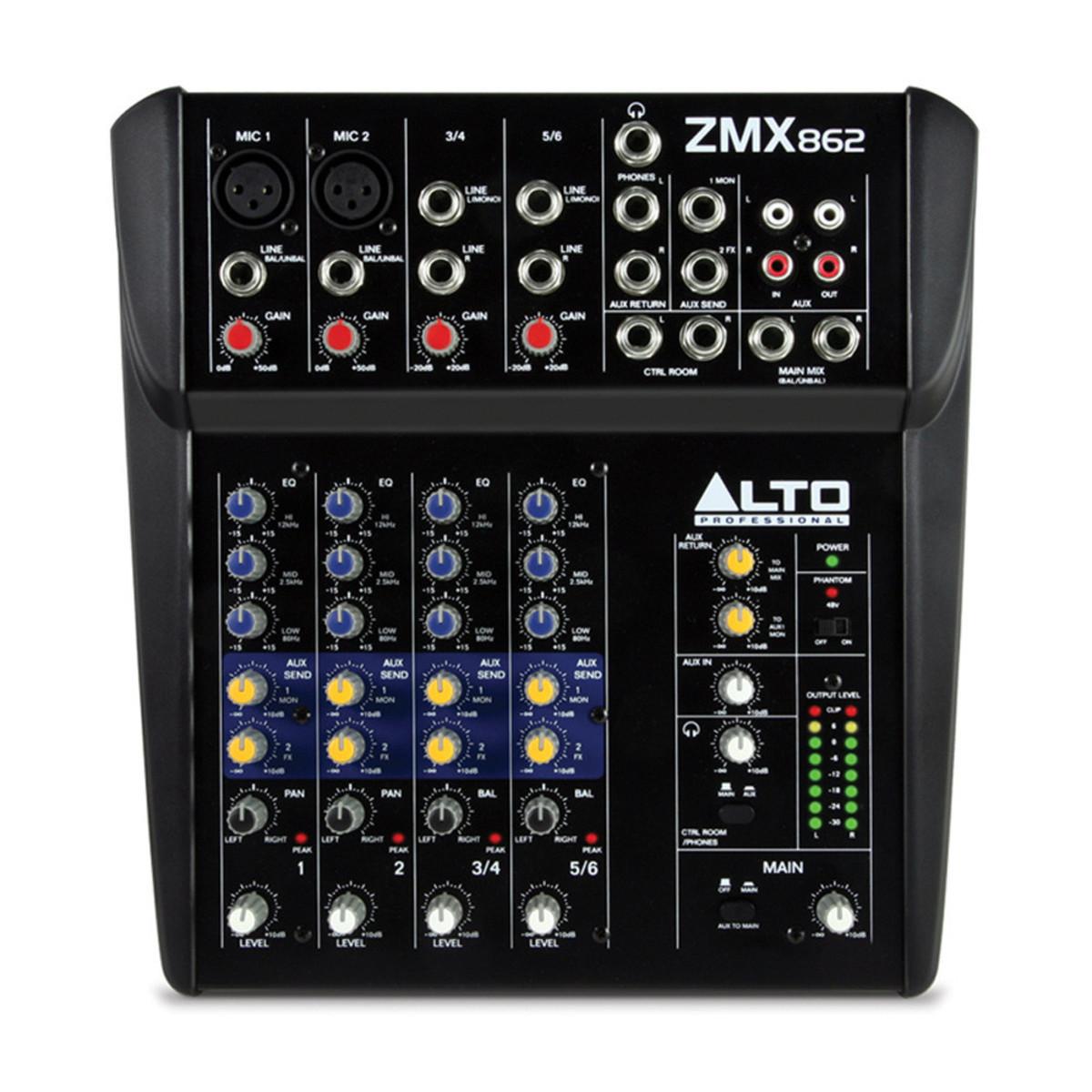 ALTO PROFESSIONAL ZEPHYR ZMX862 MIXER COMPATTO 6 CANALI  ZMX-862