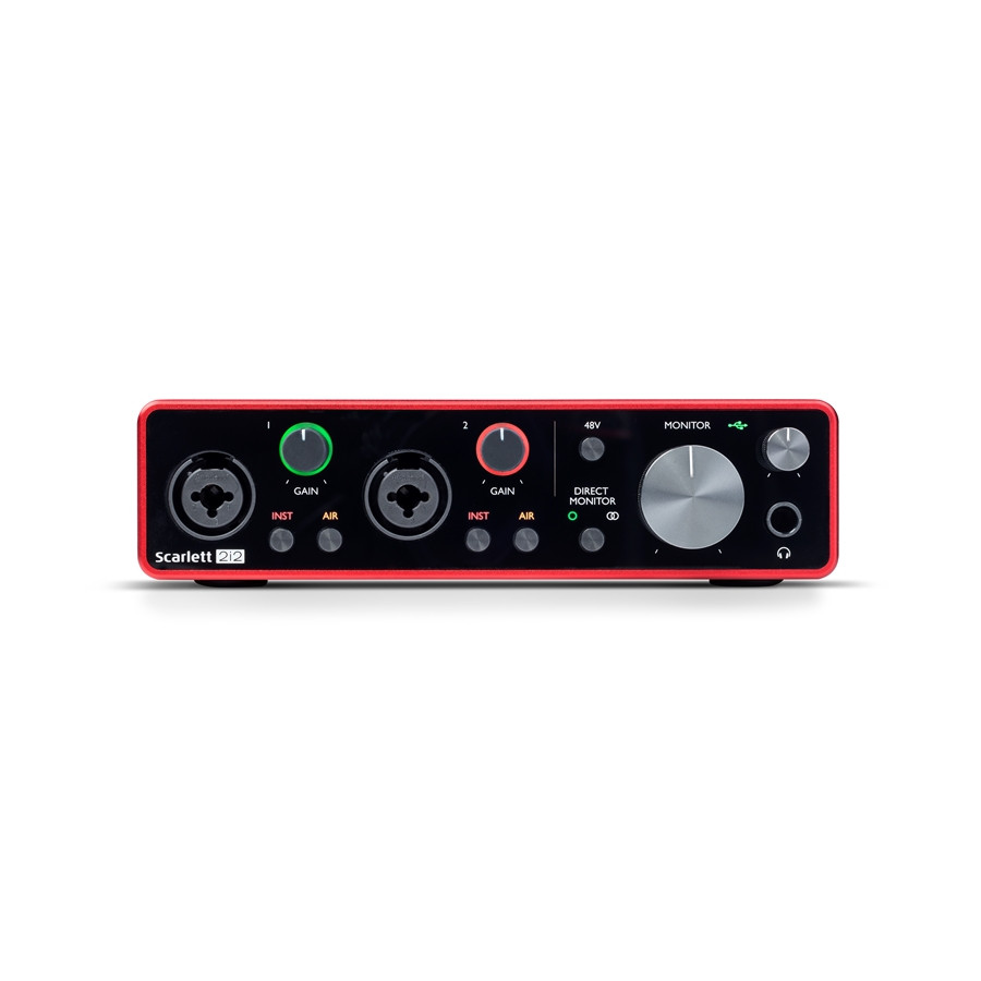 FOCUSRITE SCARLETT 2I2 SCHEDA AUDIO USB 3Rd GENERATION