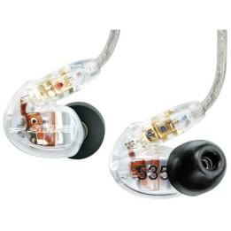 SHURE SE535CL AURICOLARI IN EAR MONITOR PROFESSIONALI  AD ISOLAMENTO SONORO SE-535-CL