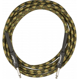 "FENDER 10"" PROFESSIONAL SERIES CABLE CAVO JACK/JACK 3 MT WOODLAND CAMO"
