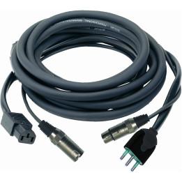 QUIKLOK s290-15 cavo audio/rete xlr/xlr con cavo di alimentazione a presa  italiana 15 mt