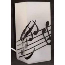 MUSIKBOUTIQUE 5581DELT LAMPADA DA TAVOLO CON NOTE MUSICALI GADGET MUSICALE 5581-DELT