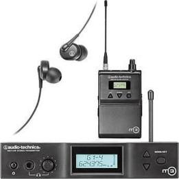 AUDIO TECHNICA M3 IN-EAR MONITOR SYSTEM STEREO PROFESSIONALE COMPOSTO DA TRASMETTITORE M3T + RICEVITORE M3R + AURICOLARE EP3