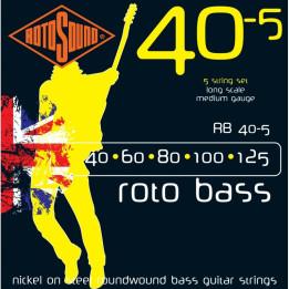 ROTOSOUND RB40-5 MUTA CORDE PER BASSO 5 CORDE  .40, .60, .80, .100, .125 RB405