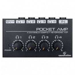 SOUNDSATION POCKET AMP AMPLIFICATORE PER CUFFIE 4 CANALI STEREO POCKETAMP