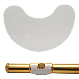BG A18B Proteggi labbra per flauto traverso, antiscivolo, bianco - A-18-B