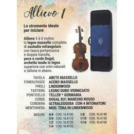 DOMUS MUSICA  VL4100 ALLIEVO 1 VIOLINO DA STUDIO 4/4 CON CUSTODIA  VL-4100