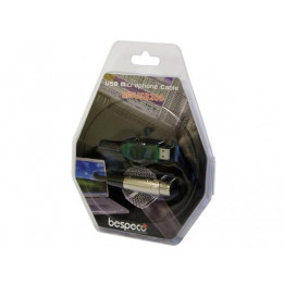 BESPECO BMUSB-200 CAVO INTERFACCIA USB-XLR CAVO PER MICROFONO CON SCHEDA AUDIO USB INTEGRATA