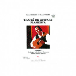 TRAITE DE GUITARE FLAMENCA LIBRO DI CHITARRA FLAMENCO +CD HERRERO/WORMS EDIZIONE COMBRE