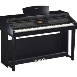 YAMAHA CLAVINOVA CVP701 PE PIANO PIANOFORTE DIGITALE GRADED HAMMER NERO LUCIDO CON RITMI CVP-701PE