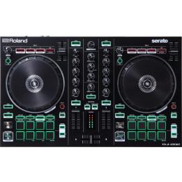 ROLAND DJ202 DJ CONTROLLER CONSOLLE A DUE CANALI E QUATTRO DECK PER SERATO INTRO DJ-202