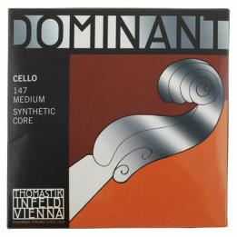 THOMASTIK DOMINANT 147 4/4 SYNTHETIC CORE  MUTA DI CORDE PER VIOLONCELLO CELLO 4/4