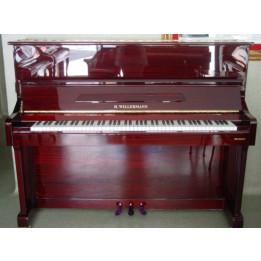 WILLERMANN 123 PIANO PIANOFORTE ACUSTICO VERTICALE MARTELLIERA TEDESCA MOGANO LUCIDO