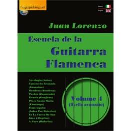 JUAN LORENZO ESCUELA DE LA GUITARRA FLAMENCA  VOL 4 LIBRO PER CHITARRA FLAMENCO LIVELLO AVANZATO