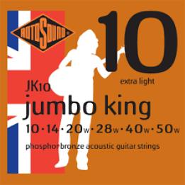 ROTOSOUND JK10 JUMBO KING MUTA PER CHITARRA ACUSTICA  .010, .014, .020w, .028, .040, .050 JK-10