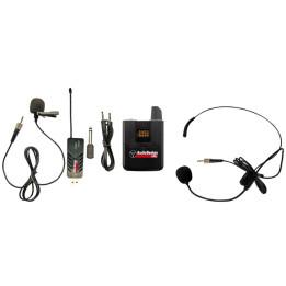AUDIODESIGN PMU USB 1.1 SISTEMA RADIOMICROFONO WIRELESS PER COMPUTER/PC DUE MICROFONI ARCHETTO/LAVALIER