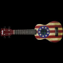 MAKALA UKADELIC MK-SUSA USA Flag Ukadelic UKULELE SOPRANO COLORATO CON DISEGNI