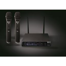 PRODIPE UHF M850 DSP DUO VOCAL RADIOMICROFONO CON DUE MICROFONI CON UNICO RICEVITORE M-850