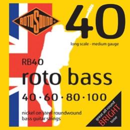 ROTOSOUND RB40 MUTA CORDE PER BASSO 4 CORDE .40, .60, 80, .100 RB-40