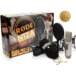 RODE NT2A BUNDLE STUDIO SOLUTION MICROFONO A CONDENSATORE MULTI PATTERN CON ACCESSORI  NT-2A