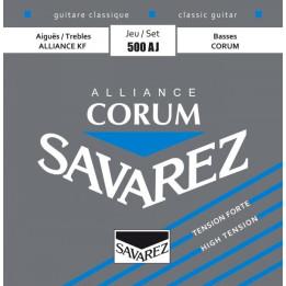 SAVAREZ 500AJ/AR ALLIANCE CORUM MUTA CORDE CHITARRA CLASSICA TENSIONE FORTE/NORMALE 500-AJ/500-AR