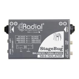 RADIAL SB6 STAGEBUG STEREO LINE ISOLATOR ISOLATORE AUDIO PASSIVO SB-6