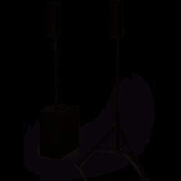 DB TECHNOLOGIES ES1203 SISTEMA AUDIO IMPIANTO STEREO CASSA BLUETOOTH CON 2 SATELLITI / SUBWOOFER TRI-AMPLIFICATO 2400W