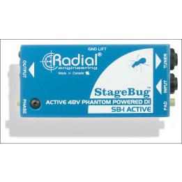 RADIAL SB1 STAGEBUG ACTIVE ACUSTIC DIRET BOX D.I. PER STRUMENTI ACUSTICI  SB-1