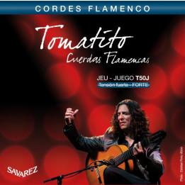 SAVAREZ TOMATITO T50J CUERDAS FLAMENCAS CORDE PER CHITARRA FLAMENCA T50-J TENSIONE FORTE