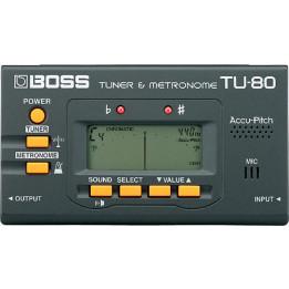 BOSS TU80 ACCORDATORE METRONOMO NERO TU-80